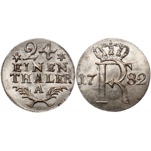German States Prussia 1/24 Taler 1782 A