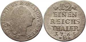 German States Prussia 1/12 Taler 1765 B