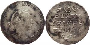 German States Prussia 1/6 Taler 1764 B