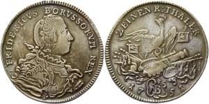 German States Prussia 1/2 Taler 1751 B