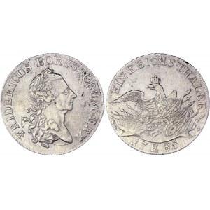 German States Prussia 1 Reichstaler 1785 E