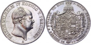 German States Prussia 2 Vereinsthaler 1856 A