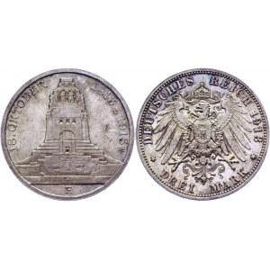 Germany - Empire Saxony-Albertine 3 Mark 1913 E Commemorative Issue