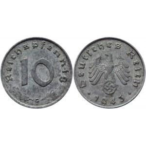 Germany - Third Reich 10 Reichspfennig 1943 G