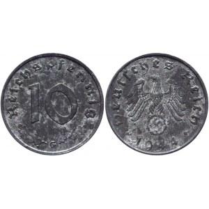 Germany - Third Reich 10 Reichspfennig 1944 G