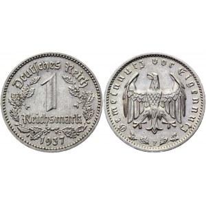 Germany - Third Reich 1 Reichsmark 1937 F