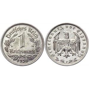 Germany - Third Reich 1 Reichsmark 1938 F