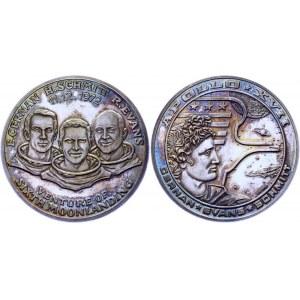 Germany - FRG Commemorative Silver Medal APOLLO XVII - 6th Moonlanding 1972