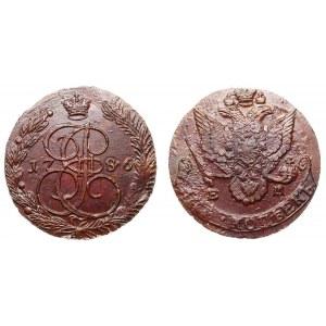 Russia 5 Kopeks 1786 EM