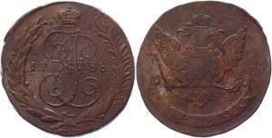 Russia 5 Kopeks 1788 СПМ Overstruck R1