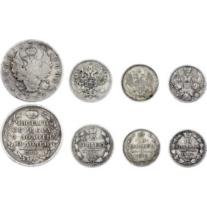Russia Lot of 4 Silver Coins 1819 - 1916