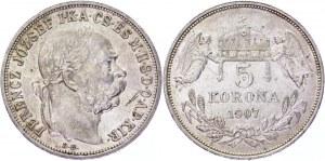Hungary 5 Korona 1907 KB