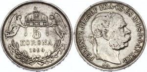Hungary 5 Korona 1909 KB