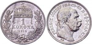 Hungary 1 Korona 1914 KB