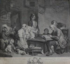 Pierre-François Martenasie wg Jean-Baptiste Greuze, Ojciec czytający Biblię