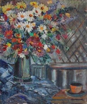 Tadeusz Sprusiak, Martwa natura z polnymi kwiatami w wazonie
