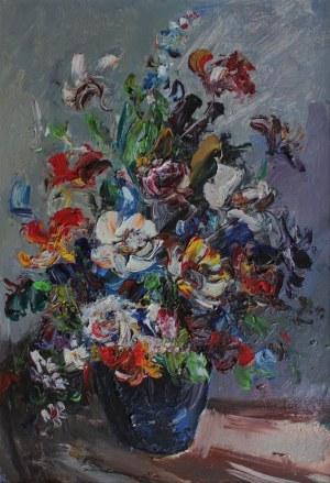 Józef Wasiołek, Kwiaty w granatowym wazonie