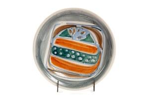 Patera z dekoracją typu KORA - Zakłady Fajansu