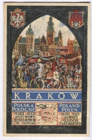 [KRAKÓW]. Kraków. Polska, Poland, Pologne, Polen. Polskie Koleje Państwowe [...].