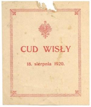 CUD Wisły. 18. sierpnia 1920. [Reszów?]. [192-?]. B. w.