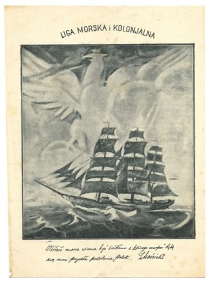 LIGA Morska i Kolonjalna. B. m. [193-?]. B. w.
