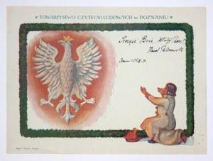 TOWARZYSTWO Czytelni Ludowych w Poznaniu. Druk barwny na ark. 21,3x28,7 cm.