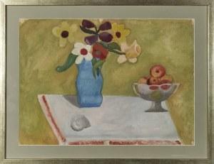 Leonard PĘKALSKI ( 1896-1944), Anemony w niebieskim wazonie