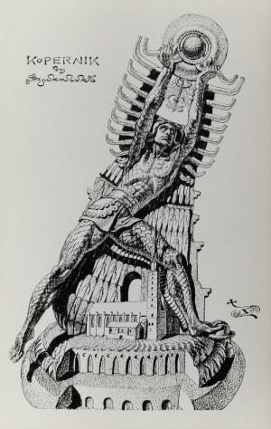 Stanisław SZUKALSKI (1893-1987), Kopernik - projekt pomnika, ok. 1973