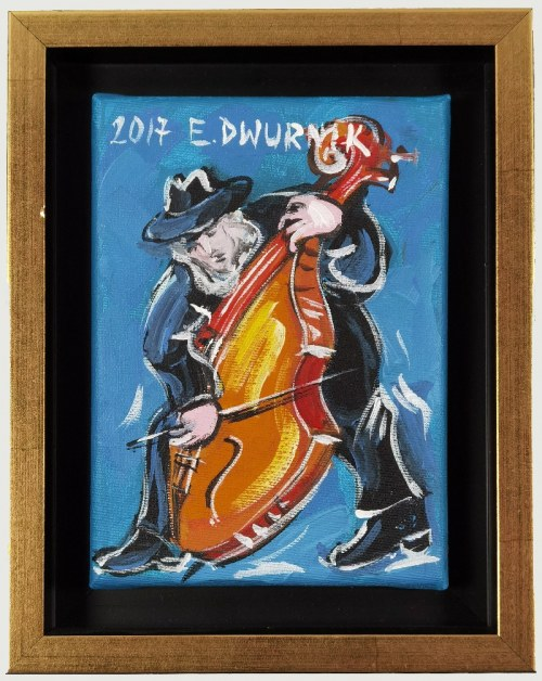 Edward DWURNIK (1943-2018), Kontrabasista, 2017