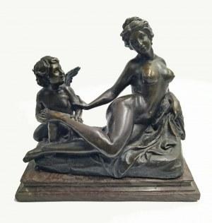 Louis GOSSIN (1846-1928), Amor miziający stópkę Wenus, ok. 1890