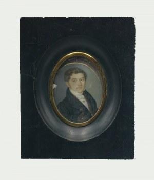Autor nieokreślony, XIX W., Mężczyzna w surducie - miniatura