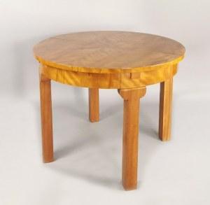 Stół art déco okrągły rozkładany