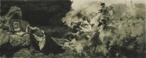 Henryk SIEMIRADZKI (1843-1902) - według, Kuszenie św. Hieronima