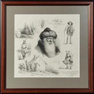 Artysta nieokreślony, XIX w., Szkice typów rodzajowych i pejzaże