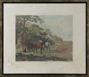 Rytował Dean WOLSTENHOLME SR (1757-1837) wg John DEARMAN (1824-1856), Przedstawienia czterech pór roku (opisane po angielsku)