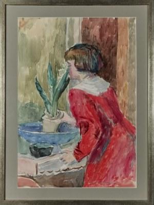 Leonard PĘKALSKI ( 1896-1944), Siostrzenica z kwiatkiem