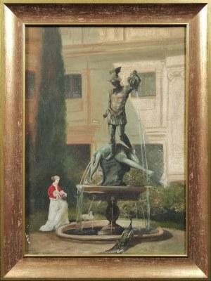 Artysta nieokreślony, Przed fontanną