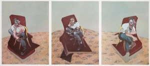Francis BACON (1909-1992), Triptych: Three Studies for Portrait of Lucian Freud-reprodukcja