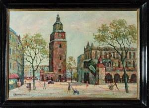 Wiesław BOROWSKI (1935-1989), Kraków - Sukiennice i Wieża Starego Ratusza