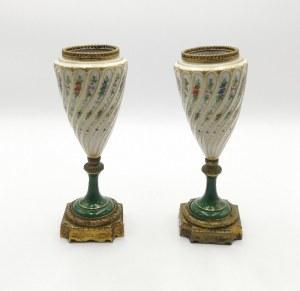 Sevres - naśladownictwo, Para wazek dekoracyjnych