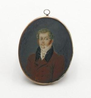 Autor nieokreślony, XIX W., Mężczyzna z białym fularem - miniatura