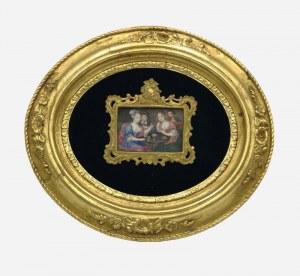 Malarz nieokreślony (koniec XVIII w.?), Rozmowa towarzystwa
