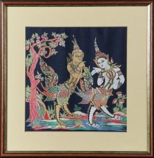 Malowidło z motywem bóstw hinduskich