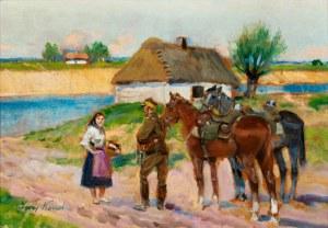 Jerzy Kossak, Na zwiadzie