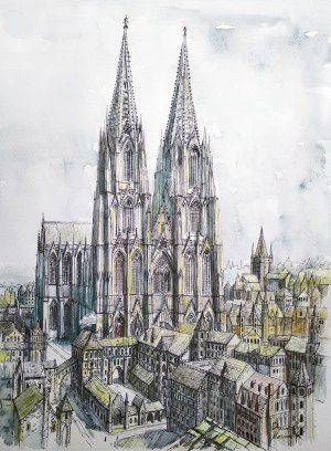 Dawid Masionek (ur. 1994), Kolońska katedra w szmaragdach, 2021