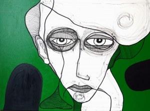 Ewelina Lochman (ur. 1978), Portret zielony, 2021