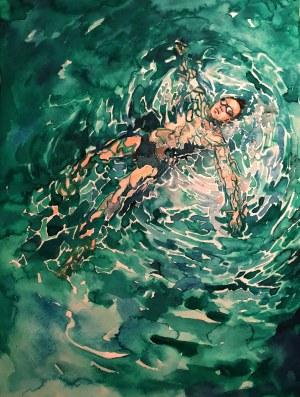 Wiktoria Nowotna (ur. 2000), W wodzie, dyptyk, 2021