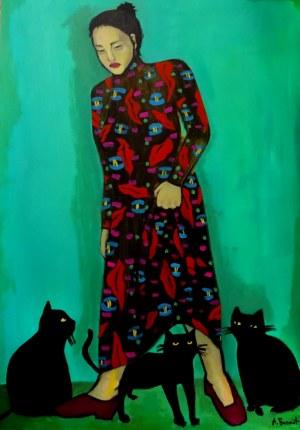 Agata Burnat (ur. 1998), 3 cats, 2020