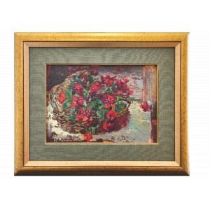 Czesław ROMANOWSKI, Kwiaty w koszu