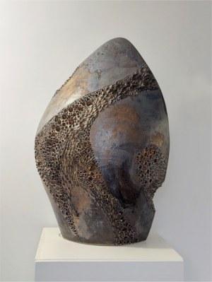"""Jolanta Herma-Pasińska, Z cyklu """"Świetlne kamienie"""" (grafit), 2021 r,"""